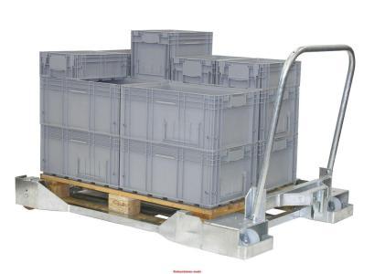 Rolcontainer.mobi levert het logistieke middel om een pallet te ververoern met daarop boxen