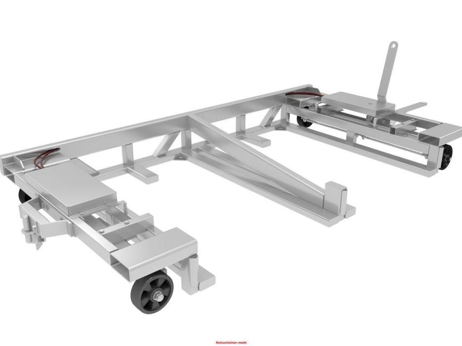 Rolcontainer.mobi vervoert voor u 2 pallets tegelijk op een logistiek middel.